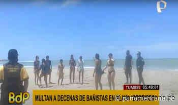 Tumbes: intervienen a decenas de bañistas en playa Zorritos | Panamericana TV - Panamericana Televisión