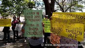 Precarización laboral: estatales de Salta se manifestaron en el Grand Bourg - La Izquierda Diario