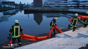 D: Feuerwehr Kleve errichtet Ölsperre auf dem Spoykanal - Fireworld.at