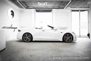 One-off Tesla Model S cabriolet par Ares Design - actualité automobile - Motorlegend.com