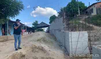 En San Estanislao de Kostka- Bolívar siguen trabajos en muro de contención - Caracol Radio
