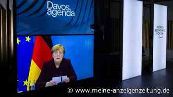 """Merkel macht Corona-Eingeständnis auf Weltwirtschaftsforum in Davos: """"Unsere Schnelligkeit lässt zu wünschen übrig"""""""