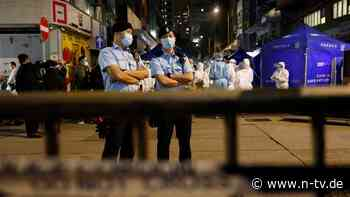 """""""Danke für Ihre Kooperation"""": Hongkong riegelt Viertel ohne Vorwarnung ab"""