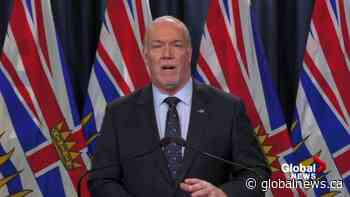 Coronavirus: Premier John Horgan reflects on the last 12 months of the pandemic in B.C.