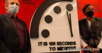 2021 Doomsday Clock stuck at 100 seconds to midnight