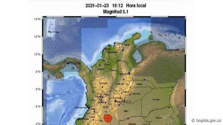 No hay daños en Bogotá tras sismo de 5.1 en Baraya - Huila   Bogota.gov.co - Alcaldía de Bogotá