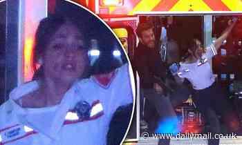 Eiza Gonzalez and Jake Gyllenhaal shoot intense chase scene on set of Michael Bay's Ambulance in LA