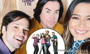 Miranda Cosgrove reunites with Nathan Kress and Jerry Trainor on the set of iCarly
