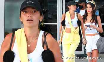 Nicole Williams puts taut tummy on display in mask-free travel look after St Barts trip with friends