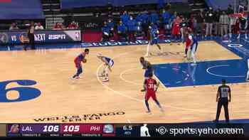 Tobias Harris with a buzzer beater vs the Los Angeles Lakers