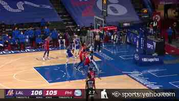Top buzzer beaters from Philadelphia 76ers vs. Los Angeles Lakers