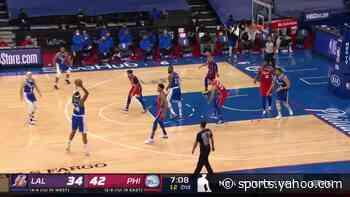 Talen Horton-Tucker with a dunk vs the Philadelphia 76ers