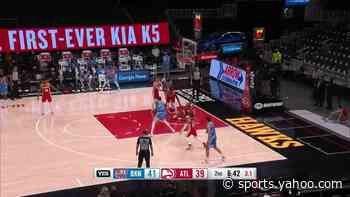 Kevin Durant with a buzzer beater vs the Atlanta Hawks