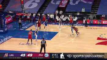 Shake Milton with a 2-pointer vs the Los Angeles Lakers
