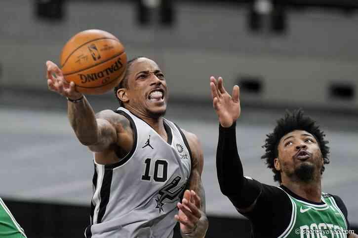 DeRozan helps Spurs hold on to beat Celtics, 110-106