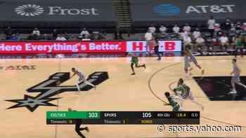 Dejounte Murray with a dunk vs the Boston Celtics