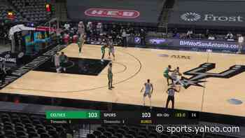DeMar DeRozan with a 2-pointer vs the Boston Celtics