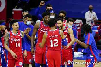 Harris shot in final seconds leads 76ers past Lakers 107-106