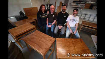 Wylie Family Spends Christmas Break Building Desks for Remote Learners