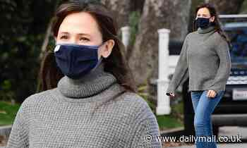 Jennifer Garner keeps casual as she goes for a socially-distanced stroll in Brentwood