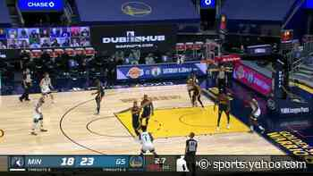 Anthony Edwards with a buzzer beater vs the Golden State Warriors