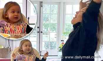 Kate Hudson goofs around with daughter Rani Rose, 2, while eating breakfast: 'I love my eggs!'