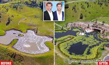 Chris and Liam Hemsworth transform property into entertaining oasis