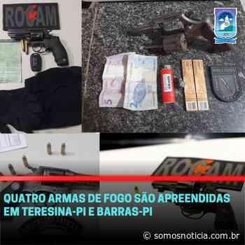 Quatro armas de fogo são apreendidas em Teresina-PI e Barras-PI - Somos Notícia