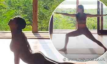 Nicole Scherzinger starts her day with a yoga session