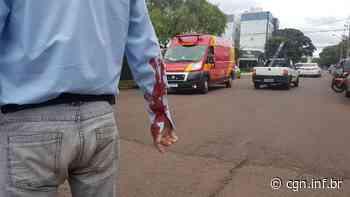 Motociclista fica ferido em colisão na Rua Visconde do Rio Branco - CGN