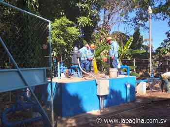 ANDA restablece servicio de agua potable a familias de Sensuntepeque - Diario La Página
