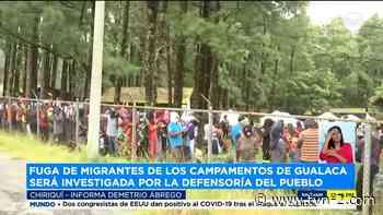 Defensoría del Pueblo investigará sobre migrantes que abandonan albergue en Gualaca - TVN Noticias