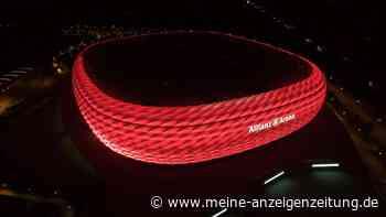 Allianz Arena komplett ungewohnt - Bayern-Stadion erstrahlt plötzlich in ganz anderen Farben