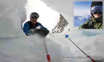 Frenchman skis into mountain crevasse and is buried by snow[Video]