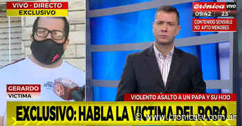 Brutal robo a padre e hijo en Villa Ballester   Crónica Televisión   El canal de noticias Nº1 de la Argentina - Crónica TV