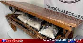 Asegura GN metanfetamina escondida en una mesa que tenía como destino EU - Hoy Tamaulipas