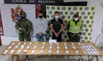 Sujetos fueron capturados transportando una gruesa suma de dinero en Isnos - Noticias