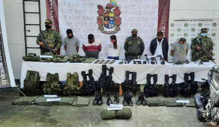 Capturan 7 personas e incautan 9 armas de fuego en Sonsón, Antioquia - Caracol Radio