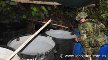 Destruyen cristalizadero de drogas de más de $6 mil millones en Sardinata | La Opinión - La Opinión Cúcuta