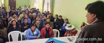 Campesinos de Betanzos descontentos por candidatos arremeten contra Evo Morales | EL DEBER - EL DEBER