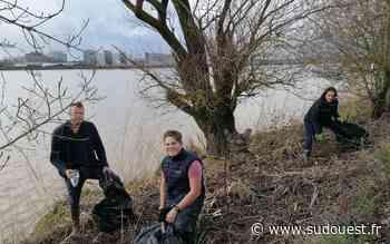 Bordeaux-Latresne: ils nettoient les berges de Garonne en famille depuis le confinement - Sud Ouest