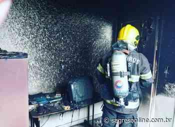 Princípio de incêndio é registrado em aeroporto de Ipameri - Sagres Online - Sagres Online