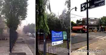 Feroz incendio en una fábrica de Villa Martelli: al menos diez dotaciones de bomberos trabajan en la zona - Infobae.com