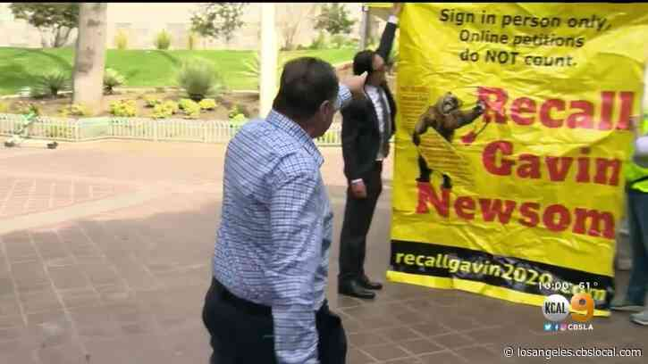 Rally Held In Support Of Petition To Recall Gov. Gavin Newsom