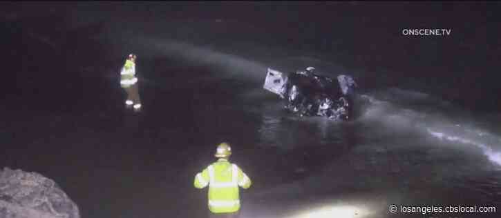 One Dead After Car Careens Off PCH, Lands In Ocean In Ventura County