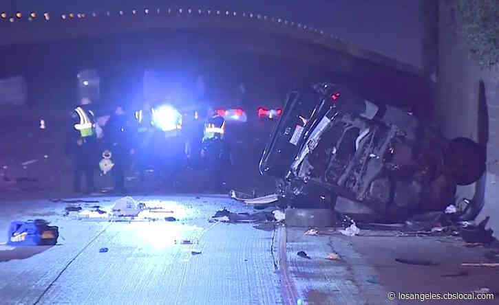 Wrong-Way Driver Killed After Slamming Head-On Into 2 Vehicles On 110 Freeway In Gardena