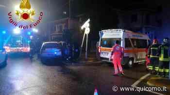 Incidente a Luisago, un'auto ribaltata - QuiComo