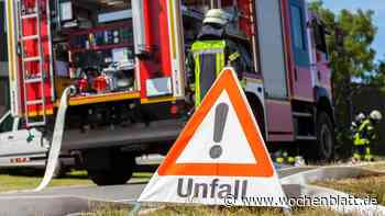 Unfall bei Attenhofen: BMW fängt nach Unfall an zu brennen – die drei Insassen können sich retten - Wochenblatt.de
