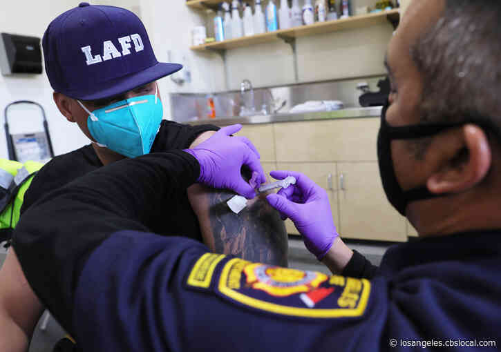 LAFD Has Enough COVID-19 Vaccine For Its Firefighters, But Only About Half Volunteer To Get It