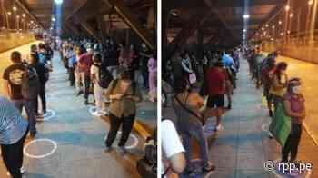 Decenas de personas aún permanecen en estación Naranjal del Metropolitano tras inicio del toque de queda - RPP Noticias